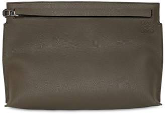 Loewe T Two Tone Leather Pouch