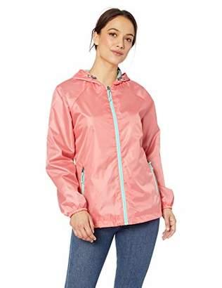 Big Chill Women's Lightweight Windbreaker Spring Jacket with Patterned Hood