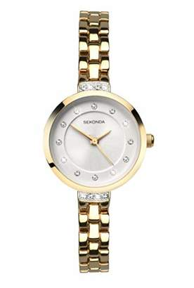 Sekonda Watches Womens Analogue Classic Quartz Watch with Gold Plated Strap 2547.27