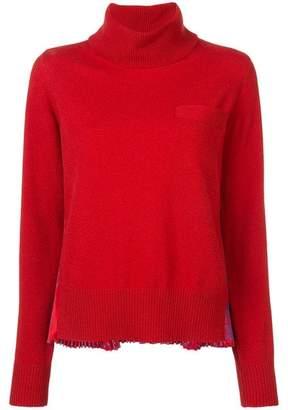 Sacai Pleated Back Turtleneck Sweater