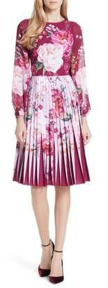 Ted Baker Esperan Serenity Contrast Pleated Skirt Dress