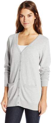 Dockers Women's Boyfriend Cotton Cardigan Sweater with Front Pockets