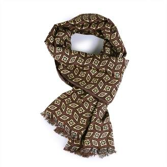 Serà Fine Silk - Castagna Wool and Silk Scarf