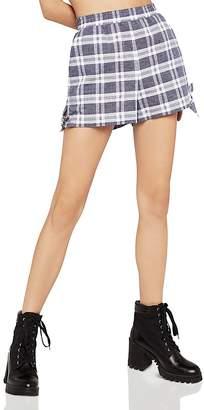 BCBGeneration Tie-Hem Plaid Shorts