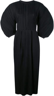 Jil Sander puffed-sleeve pleated dress