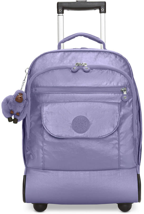 Kipling Sanaa Metallic Rolling Backpack - METALLIC MIST PURPLE - STYLE