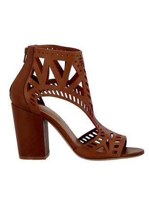Elena Iachi Brown/red Leather Sandals