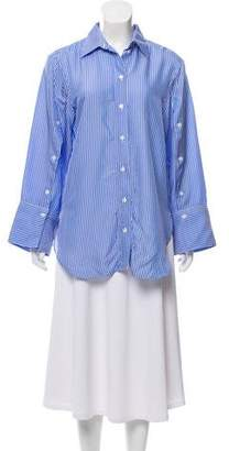 By Malene Birger Striped Button-Up Top