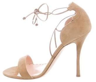 Rupert Sanderson Suede Lace-Up Sandals w/ Tags