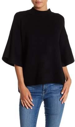 Boulevard Mock Neck Bell Sleeve Sweater