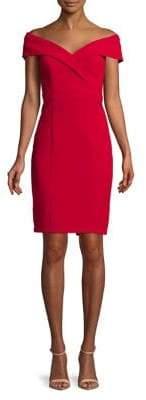 Xscape Evenings Petite Off-The-Shoulder Midi Dress