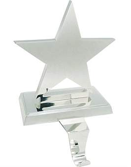 Christmas Shop Stock-Star Stocking Holder Silver