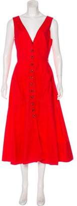 Saloni Button-Up Midi Dress