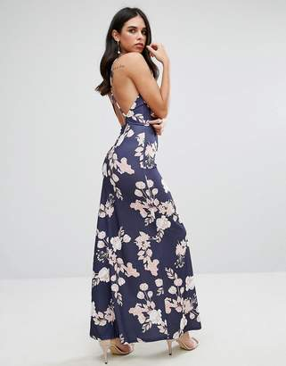 Oh My Love Maxi Dress With Open Back In Floral Print $49 thestylecure.com