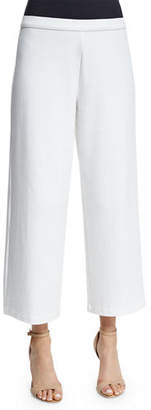 Joan Vass Easy Wide-Leg Ankle Pants