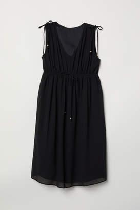 H&M MAMA V-neck Dress - Black