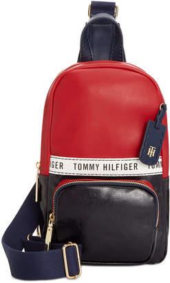 Tommy Hilfiger Julia Coated Canvas Sling Backpack