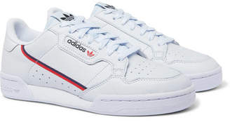 adidas Continental 80 Grosgrain-Trimmed Leather Sneakers - Light blue