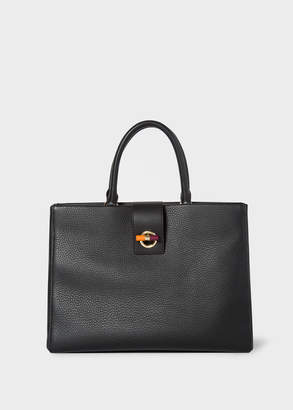 Paul Smith Women's Black T-Bar Leather Tote Bag