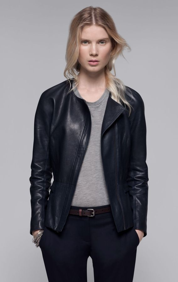 Theory Enora Jacket in Ford Leather