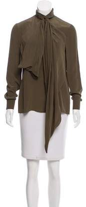 Givenchy Long Sleeve Silk Top