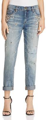 BLANKNYC Crystal & Faux-Pearl Embellished Jeans in Soul Mate - 100% Exclusive $108 thestylecure.com