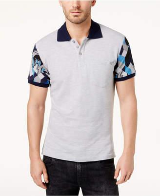 Versace Men's Printed-Sleeve Polo