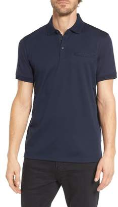 BOSS Prout Regular Fit Polka Dot Polo Shirt