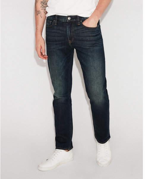 Express classic slim dark wash stretch jeans