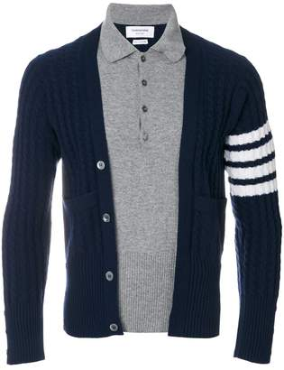 Thom Browne Trompe L'oeil long-sleeve polo