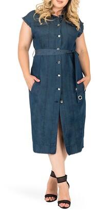 Standards & Practices Aida Denim Shirtdress