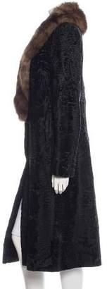 Michael Kors Sable Collar Broadtail Coat