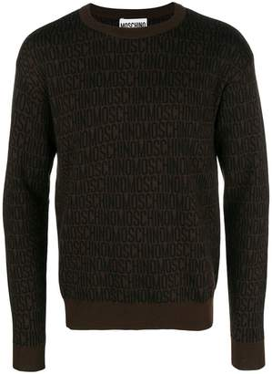 Moschino logo printed sweater