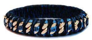 ALYSSA NORTON chain bangle blue