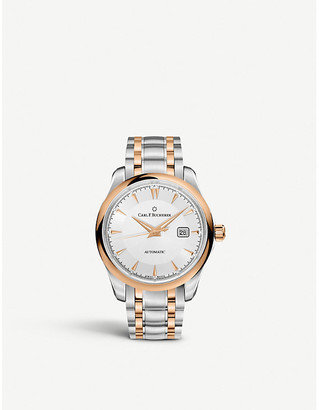 Rosegold CARL F BUCHERER 00.10915.07.13.21 stainless steel and 18ct rose-gold watch