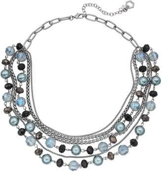 Vera Wang Simply Vera Beaded Link Swag Necklace