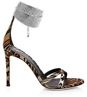 Giuseppe Zanotti Women's Embellished Strap Criss-Cross Sandals