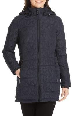Weatherproof Faux Fur Lined Hooded Quilted Walker Jacket