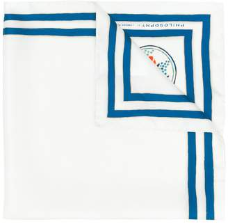 Philosophy di Lorenzo Serafini striped edge scarf