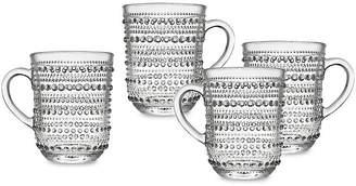 One Kings Lane Set of 4 Lumina Mugs - Clear