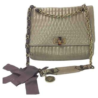 Lanvin Happy Beige Leather Handbag