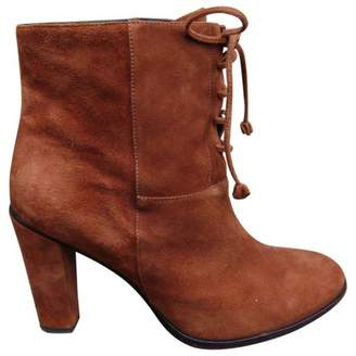 Tila March Orange Suede Ankle boots