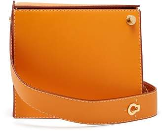 Danse Lente Zoe Leather Box Clutch - Womens - Orange
