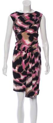Diane von Furstenberg Printed Sleeveless Silk Dress