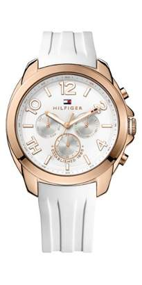 Tommy Hilfiger Women's 1781388 White Rubber Analog Quartz Watch with White Dial