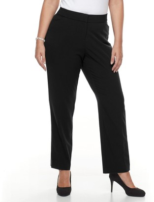 Croft & Barrow Plus Size Straight Leg Trousers