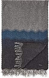 Barneys New York Beki Colorblocked Pleated Cashmere Throw-Blue