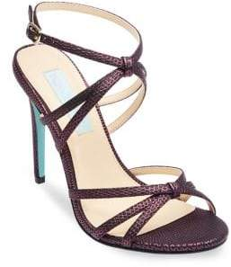 Betsey Johnson Myla Textured Ankle-Strap Sandals