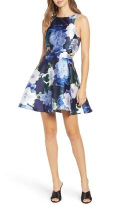 Speechless Floral Print Fit & Flare Dress