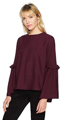 Lucca Couture Women's Lily Mini Ruffle Flare Sleeve Top